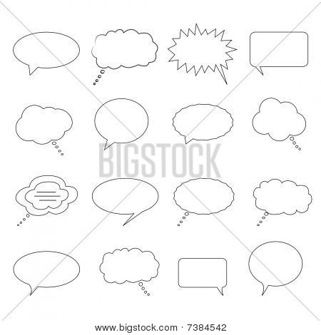 Talk, speech and thought bubbles