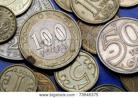 Coins of Kazakhstan. Kazakhstani 100 tenge coin.