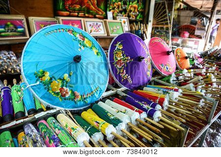 Colorful Handmade Umbrella For Sale