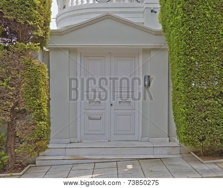 house white door Athens suburbs Greece