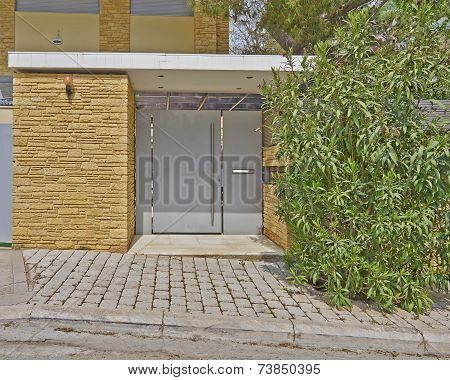 Modern house door, Athens suburbs Greece
