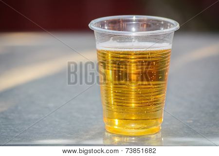 Beer in plastic cup