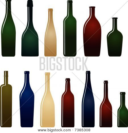 color glass bottles