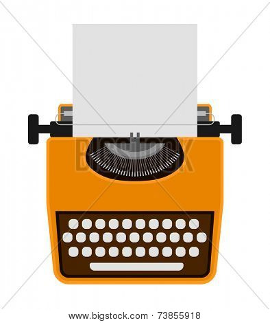 typewriter icon - design element
