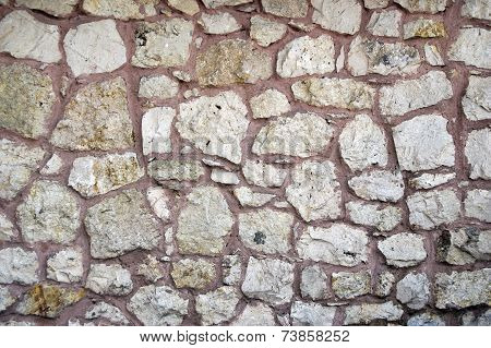 Ancient Turkish Beige Stonewall from Ottoman period for Background