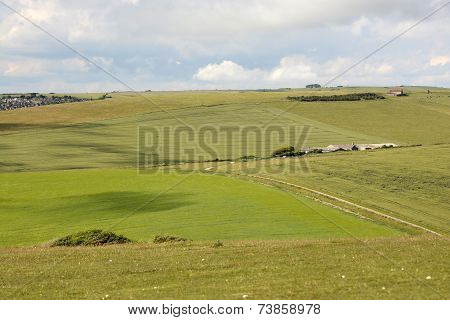 South Downs Countryside Near Eastbourne. England