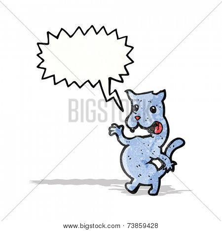 cartoon screeching cat