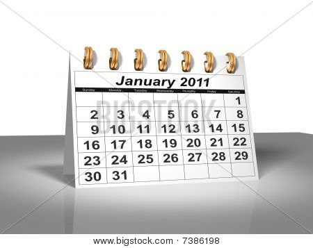 Desktop Calendar. January, 2011
