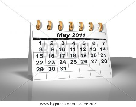 Desktop Calendar. May,2011