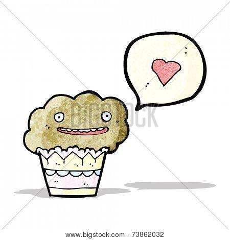 cartoon love muffin