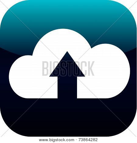 Upload From Cloud Icon. Upload Button. Load Symbol.