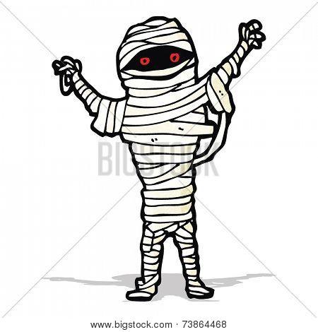 halloween mummy cartoon