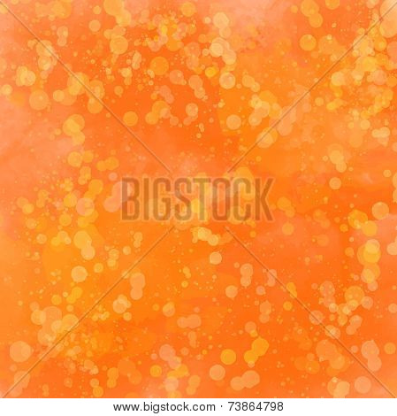 Abstract autumn orange background with watercolor splashes and swashesAbstract autumn orange backgro