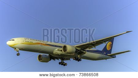 Jet Airways VT-JEH at Heathrow