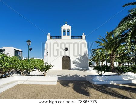 Church in Uga  on Lanzarote