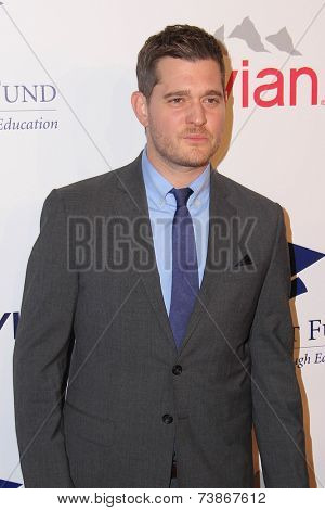 LOS ANGELES - OCT 14:  Michael Buble_ at the Fulfillment Fund Stars Benefit Gala 2014 at Beverly Hilton Hotel on October 14, 2014 in Beverly Hills, CA