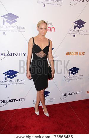 LOS ANGELES - OCT 14:  Amber Valetta at the Fulfillment Fund Stars Benefit Gala 2014 at Beverly Hilton Hotel on October 14, 2014 in Beverly Hills, CA