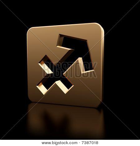 Saggitarius Zodiac Symbol Icon