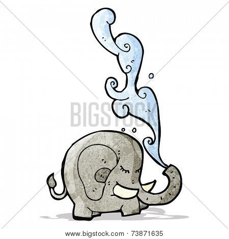 elephant squirting water cartoon