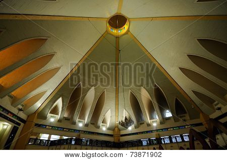 Interior of UNiSZA Mosque in Terengganu