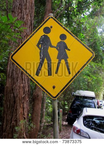 People Crossing sign in National Park