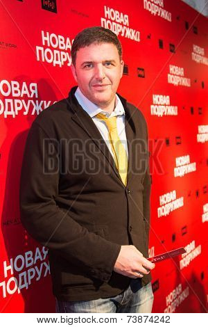 MOSCOW - OCTOBER, 4:  Maxim Vitorgan. Premiere of the movie New Girlfriend, October, 4, 2014 at Gogol Center in Moscow, Russia