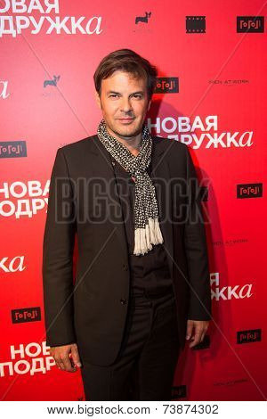 MOSCOW - OCTOBER, 4:  Francois Ozon. Premiere of the movie New Girlfriend, October, 4, 2014 at Gogol Center in Moscow, Russia