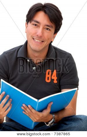 Male Student Isolated