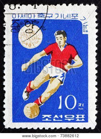 Postage Stamp North Korea 1965 Soccer Player