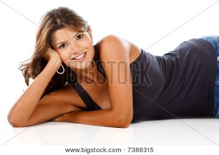 Woman Lying On The Floor