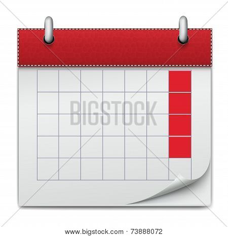 Calendar Icon Notebook Business Of Planning, Concept