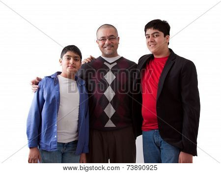 Indian Father With His Sons