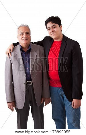 Indian Grandfather And Grandson