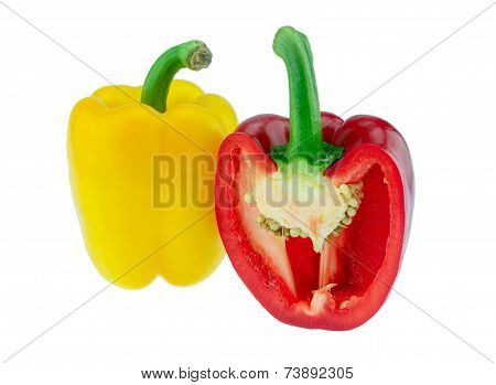 Yellow Bell Pepper And Red Bell Pepper
