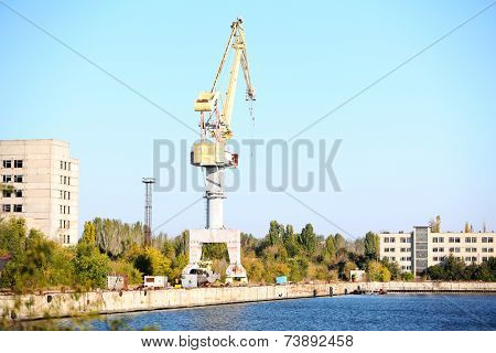 Industrial shipyard