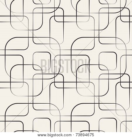 Abstract geometric line and square seamless pattern. Vector