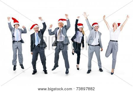 Group of Business People Celebrating