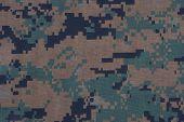 stock photo of camouflage  - us marines uniform camouflage pattern texture background - JPG