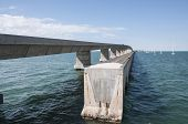 foto of mile  - Old and new seven mile bridge at the Florida Keys - JPG
