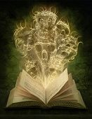 stock photo of scary  - Magic book with scary stories - JPG