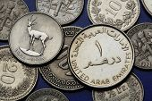 stock photo of dirham  - Coins of the United Arab Emirates - JPG