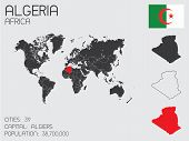foto of algeria  - A Set of Infographic Elements for the Country of Algeria - JPG