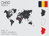 stock photo of chad  - A Set of Infographic Elements for the Country of Chad - JPG
