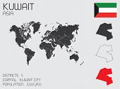 picture of kuwait  - A Set of Infographic Elements for the Country of Kuwait - JPG