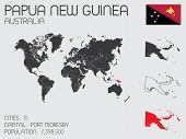 picture of papua new guinea  - A Set of Infographic Elements for the Country of Papua New Guinea - JPG