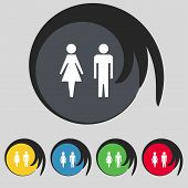 stock photo of female toilet  - WC sign icon - JPG