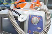 pic of defibrillator  - Defibrillator and stethoscope - JPG