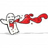 foto of gross  - gross bloody ghost cartoon - JPG