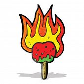 picture of toffee  - hot toffee apple cartoon - JPG