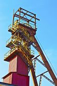 foto of salt mine  - Salt mine shaft on a sunny summer day - JPG